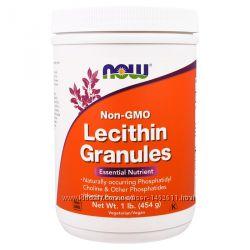 Лецитин соевый в гранулах Lecithin Granules, 454 г, Now Foods