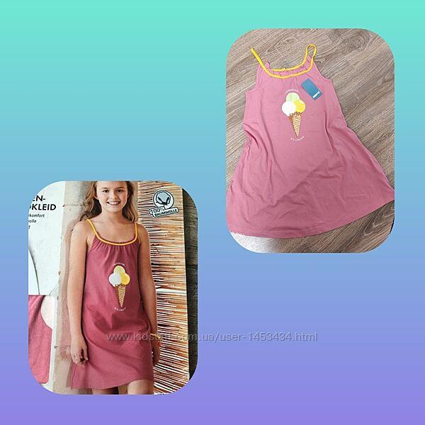 Нежная пижамное платье Pepperts на девочку 8-9лет, на рост 128/134см.