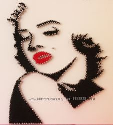 Картина в стиле String Art. Мэрилин Монрo. Marilyn Monrое