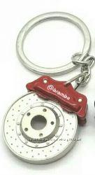 Необычный оригинальный брелок для ключей в виде тормозного диска авто с кол