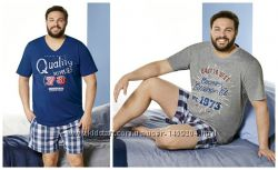 Летний комплект, мужская пижама, домашний костюм Livergy Германия, батал, ф