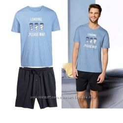 ce2de8bba1f Летний комплект мужская пижама домашний костюм Livergy футболка шорты