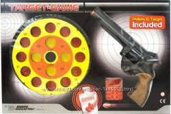 Игрушечный пистолет EDISON Target Game 28см 8-зарядный с мишенью и пульками