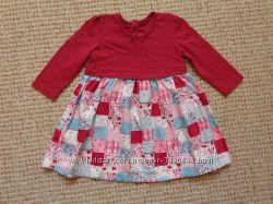 Нарядные платья с рукавом рост 68-86 см.