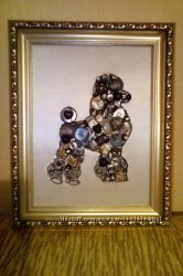 Креативный подарок картина  мозаика Пудель Собака