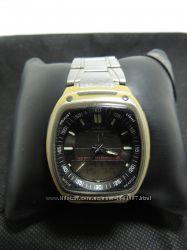 Фирменные часы Casio оригинальный браслет  будильник  мировое время