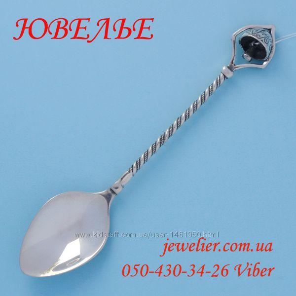 Ложка серебряная С колокольчиком кофейная 875 пробы
