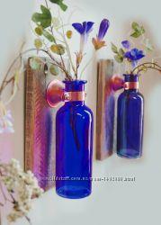 Стеклянные бутылочки цвет индиго для декоративных работ