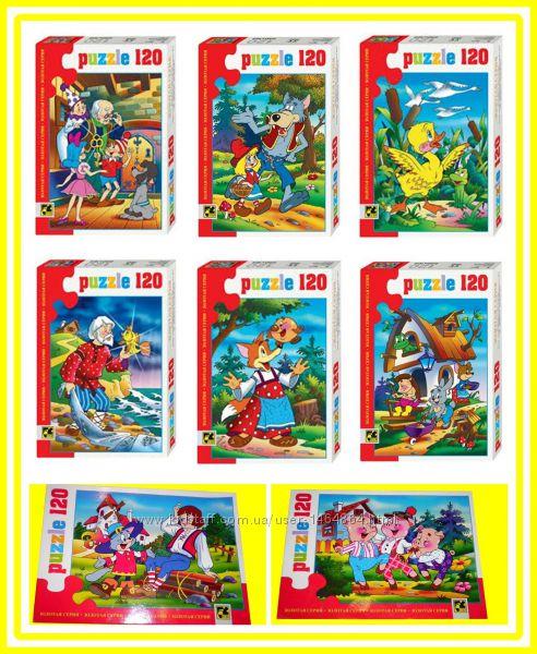 Игрушки пазлы STEP 120 элементов самые известные сказки