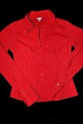 Рубашка amisu красная яркая блузка кофта s стильная классика