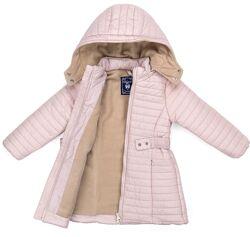 Удлиненная демисезонная стеганая куртка на флисе от тм Verscon.