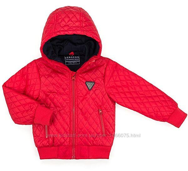 Демисезонная куртка с капюшоном от Verscon для мальчика. Два цвета. 2-11лет