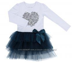 Красивое трикотажное платье для юной модницы на 4, 5, 6 и 8 лет.