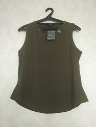 Интересная блуза, майка камни стразы бренда next, р 14