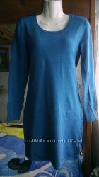 Бирюзовое теплое платье 44-46р