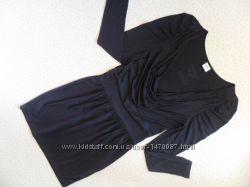 стиль трио платье топ майка мини юбка 44р тянется до 46р-48р черное стретч