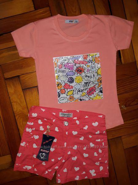 Прикольная футболка для девочки паетки-перевёртыши Турция Качество Выбор