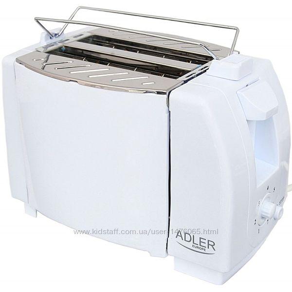 Новый простой и надежный тостер из Европы Adler AD33 с гарантией