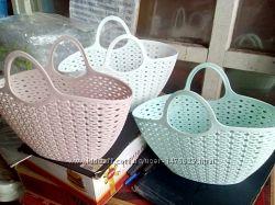 Корзина-сумка пластиковая