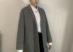 Пальто серое H&M