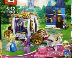 Конструктор SY 949 Disney Princess Сказочный вечер Золушки 367 деталей