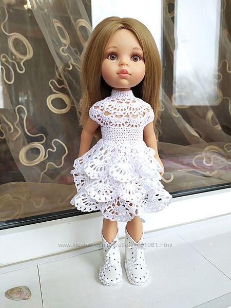 Платье белоснежное для куклы Паола Рейна, Антонио Хуан, Эльза