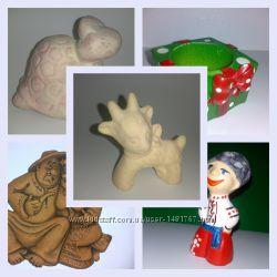 Фигурки глиняныу Супруги Козлик Козачёк  для декораций и Hand Made работ