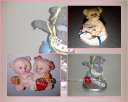 Сувениры подарок статуэтка Мишка с корабликом Мишка Тедди Влюблённые мишки