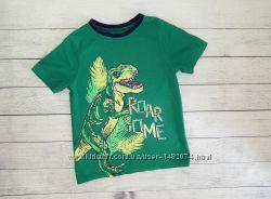 Хлопковая футболка george с динозавром для мальчика 7-8 лет. 122-128 рост.