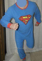 Superman слип кигуруми пижама домашний костюм комбинезон человечек ... b99b5f93a01e0