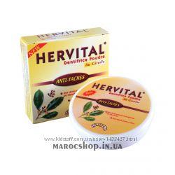 Зубной порошок Hervital с мисваком и гвоздикой, с мятой и чайным деревом