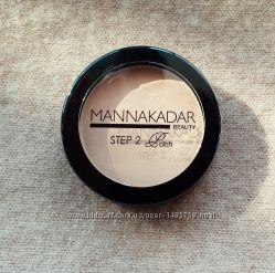 Компактная пудра для лица Manna Kadar, оттенки светлый и бежевый