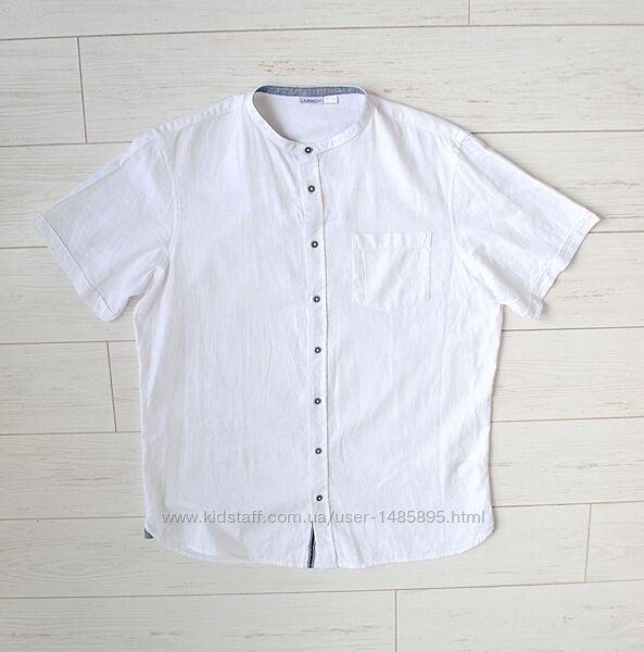 Рубашка Livergy летняя лён/ хлопок размер L.