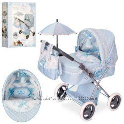 Коляска для кукол с зонтиком и сумкой De Cuevas Carol ручка до 65см Испания