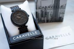 Caravelle by bulova часы женские с чёрными кристаллами сваровски