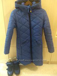 Ярко-синий зимний комплект