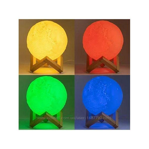 Світильник Moon 3D нічник Місяць 3д дизайн. Светильник луна ночник 8 цветов