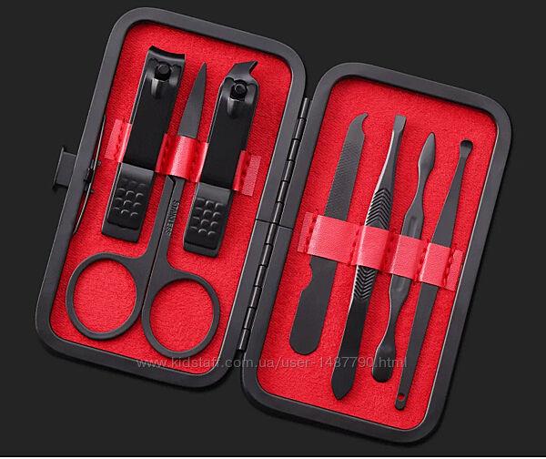 Профессиональный маникюрный набор Manicure Suit 7 в 1 в пенале Black