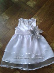 платья снежинки 1-7 лет