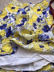Оочень шикарная летняя юбка на подкладе. органза. размер 48-50