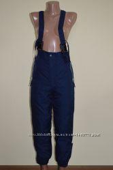 Утепленные зимние штаны на подтяжках