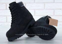 95c4e34e4 Зимние женские ботинки Timberland Black с натуральным мехом, 1800 ...