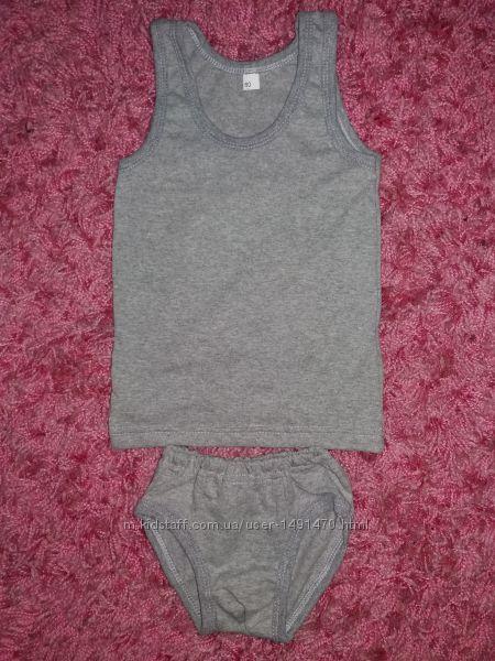 Комплекты костюмы майка маечка и трусы трусики на мальчика 1-2 лет
