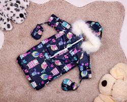Детский зимний комбинезон конверт куртка