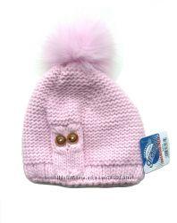 Размер 6-12лет Зимняя шапка с помпоном Grans Польша