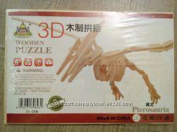 деревянные пазлы 3D, объемные
