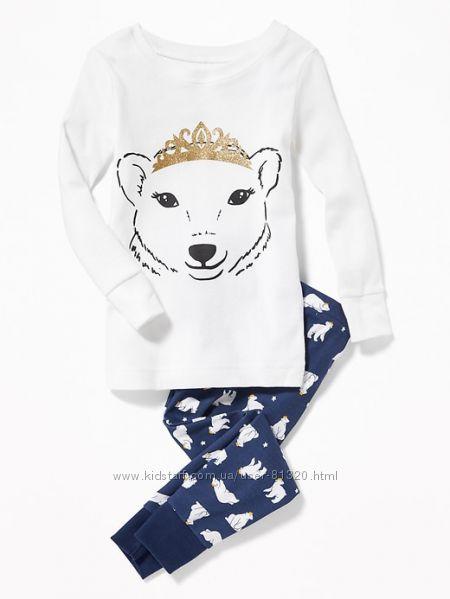 Пижама Old Navy, принт белый медведь, р. 2Т.