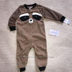 Микрофлисовые пижамы комбинезоны Carters мальчикам