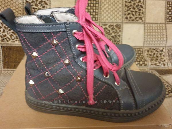 Очень классные , полностью кожаные, стильные ботиночки для девочки