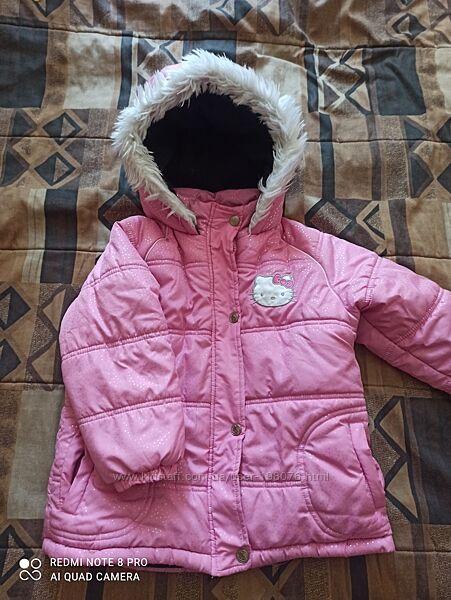Зимняя куртка Hello kitty на 3-4 года